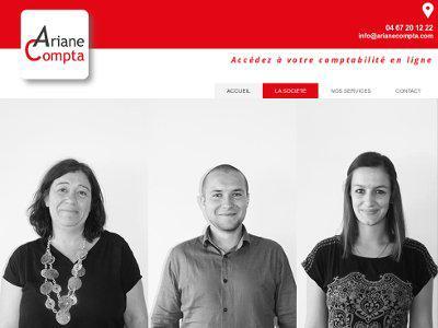Homepage site Ariane Compta