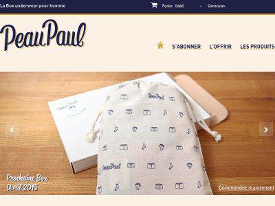 Homepage site Peaupaul